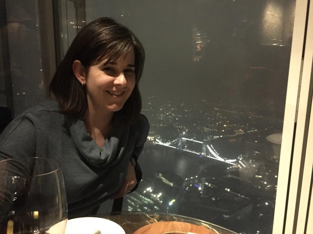 view from a bar called GONG in the Shard