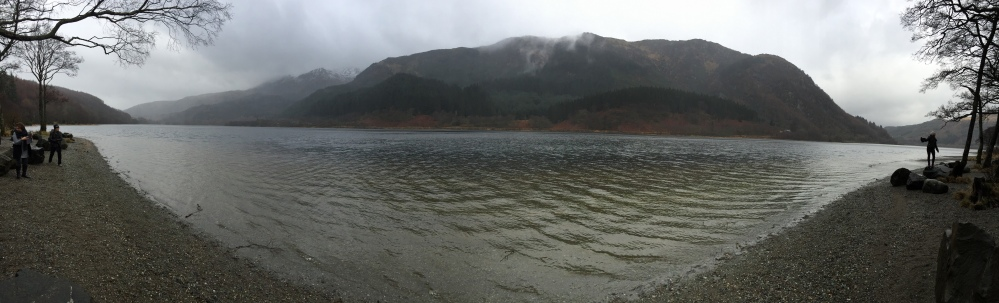Loch Lomond in the Scottish Highlands- panoramic view