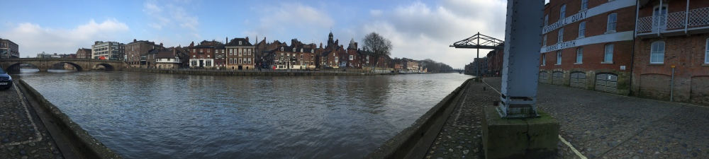 Panoramic photo of the River Ouse in York
